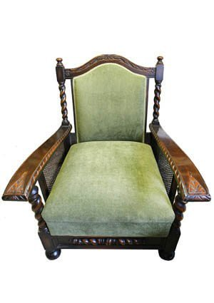 antique furniture upholstery - Antique Chair French Polished