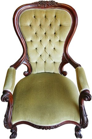 Antique Louis Armchair Reupholstered
