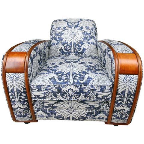 Armchair upholstery with the wow factor.