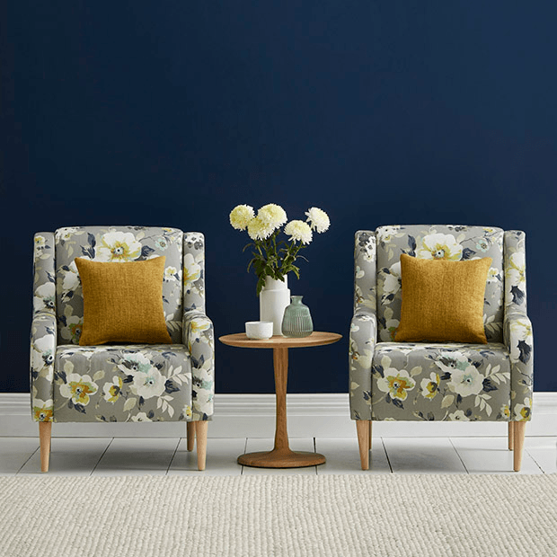 Chairs in Amelia by Warwick Fabrics