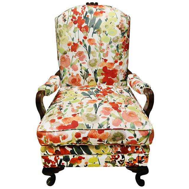 Floral Armchair in Warwick Fabric