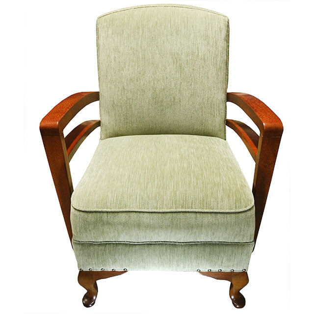 Quality Armchair Re-upholstery in Warwick Fabrics