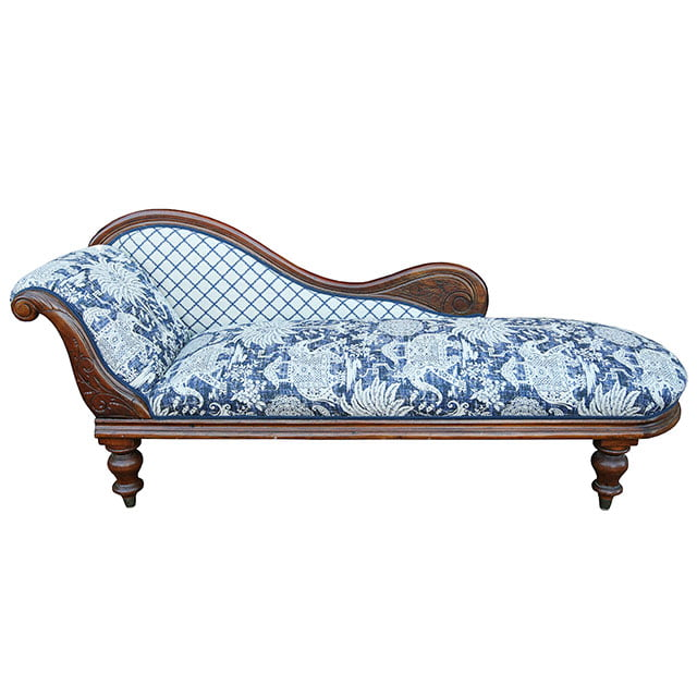 Warwick Fabrics Maharaja Indigo for Chaise Lounge Upholstery Ideas